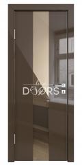 ШИ дверь DO-610 Шоколад глянец/зеркало Бронза