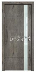 Дверь межкомнатная TL-DO-507 Серый кедр/стекло Белое