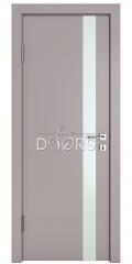 Дверь межкомнатная DO-507 Серый бархат/Снег