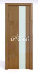 Дверь межкомнатная DO-504 Анегри темный/стекло Белое