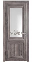 Дверь межкомнатная DO-PG2 Орех седой темный/Ромб
