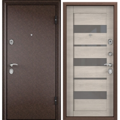 Дверь TOREX DELTA-112 Медный антик / CT Wood Light Grey DC-4