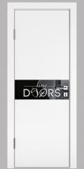 ШИ дверь DO-609 Белый бархат/стекло Черное
