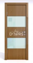 Дверь межкомнатная DO-508 Анегри темный/стекло Белое