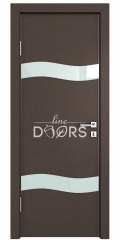 ШИ дверь DO-603 Бронза/стекло Белое