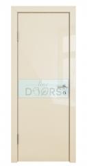 Дверь межкомнатная DO-509 Ваниль глянец/стекло Белое