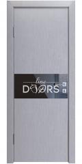 Дверь межкомнатная DO-501 Металлик/стекло Черное