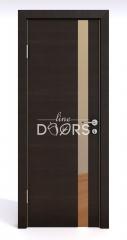 Дверь межкомнатная DO-507 Венге горизонтальный/зеркало Бронза