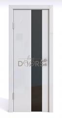 Дверь межкомнатная DO-504 Белый глянец/стекло Черное
