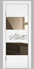 Дверь межкомнатная DO-508 Белый бархат/зеркало Бронза