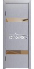 Дверь межкомнатная DO-502 Металлик/зеркало Бронза