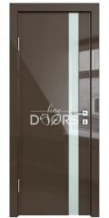 Дверь межкомнатная DO-507 Шоколад глянец/стекло Белое