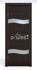 ШИ дверь DO-603 Венге горизонтальный/Снег