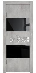 Дверь межкомнатная DO-508 Бетон светлый/стекло Черное