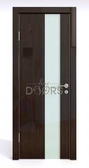 ШИ дверь DO-604 Венге глянец/стекло Белое