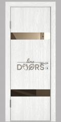 ШИ дверь DO-602 Белый глубокий/зеркало Бронза