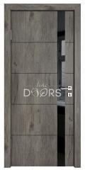 Дверь межкомнатная TL-DO-507 Серый кедр/стекло Черное