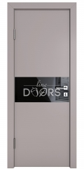 ШИ дверь DO-601 Серый бархат/стекло Черное