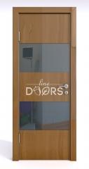 ШИ дверь DO-608 Анегри темный/стекло Черное