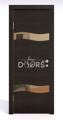 ШИ дверь DO-603 Венге горизонтальный/зеркало Бронза