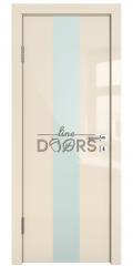 Дверь межкомнатная DO-510 Ваниль глянец/стекло Белое