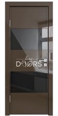 ШИ дверь DO-608 Шоколад глянец/стекло Черное