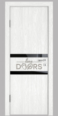ШИ дверь DO-613 Белый глубокий/стекло Черное