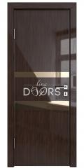 ШИ дверь DO-612 Венге глянец/зеркало Бронза