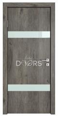 Дверь межкомнатная TL-DO-502 Серый кедр/стекло Белое