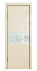 ШИ дверь DO-601 Ваниль глянец/стекло Белое