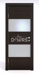 Дверь межкомнатная DO-508 Венге горизонтальный/Снег
