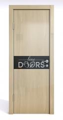 Дверь межкомнатная DO-509 Анегри светлый/стекло Черное