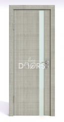 ШИ дверь DO-607 Серый дуб/стекло Белое