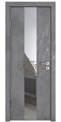 Дверь межкомнатная DO-510 Бетон темный/Зеркало