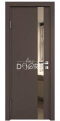 Дверь межкомнатная DO-507 Бронза/зеркало Бронза