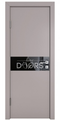 ШИ дверь DO-609 Серый бархат/стекло Черное