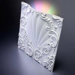 Гипсовая 3D панель VALENCIA LED (RGB) 600x600x91 мм