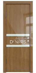 ШИ дверь DO-613 Анегри темный/стекло Белое