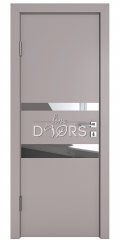 Дверь межкомнатная DO-512 Серый бархат/Зеркало