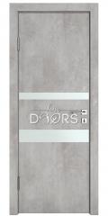 Дверь межкомнатная DO-512 Бетон светлый/Снег