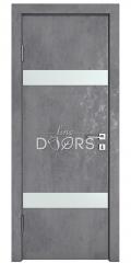 Дверь межкомнатная DO-502 Бетон темный/Снег