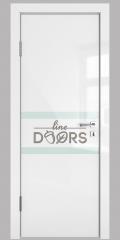 Дверь межкомнатная DO-513 Белый глянец/стекло Белое