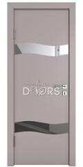 Дверь межкомнатная DO-503 Серый бархат/Зеркало