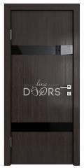 Дверь межкомнатная TL-DO-502 Акация/стекло Черное