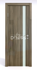 Дверь межкомнатная DO-507 Сосна глянец/стекло Белое
