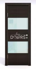 ШИ дверь DO-608 Венге горизонтальный/стекло Белое
