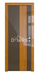 ШИ дверь DO-604 Шоколад глянец/стекло Бамбук