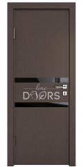 Дверь межкомнатная DO-513 Бронза/стекло Черное