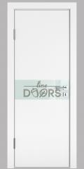 Дверь межкомнатная DO-509 Белый бархат/стекло Белое