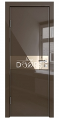 Дверь межкомнатная DO-509 Шоколад глянец/зеркало Бронза